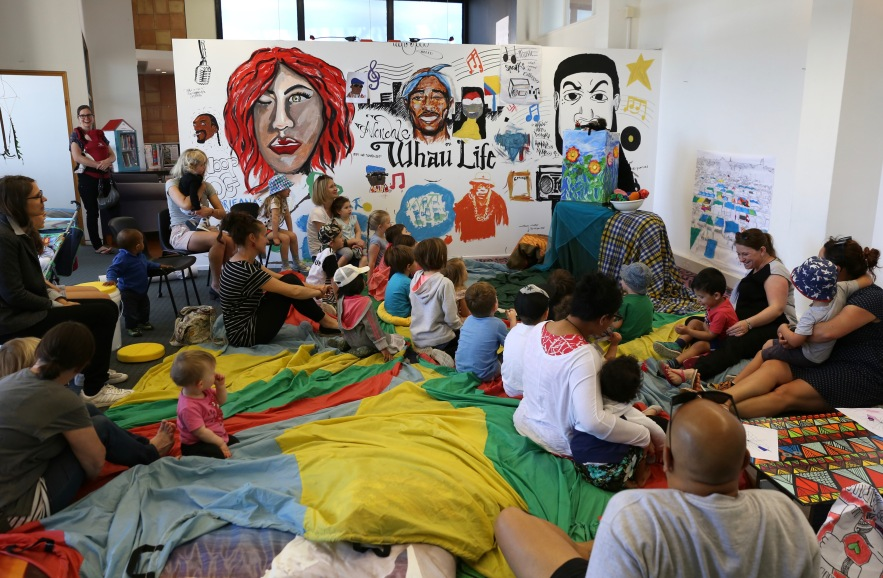 Mural and Puppet show